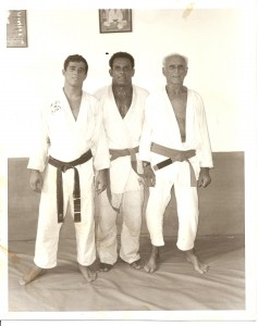 Grandmaster Helio Gracie, Master Royler Gracie and David Adiv. Circa 1990