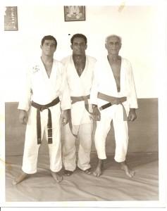 Grandmaster Helio Gracie, Master Royler Gracie and David Adiv. Circa 1990